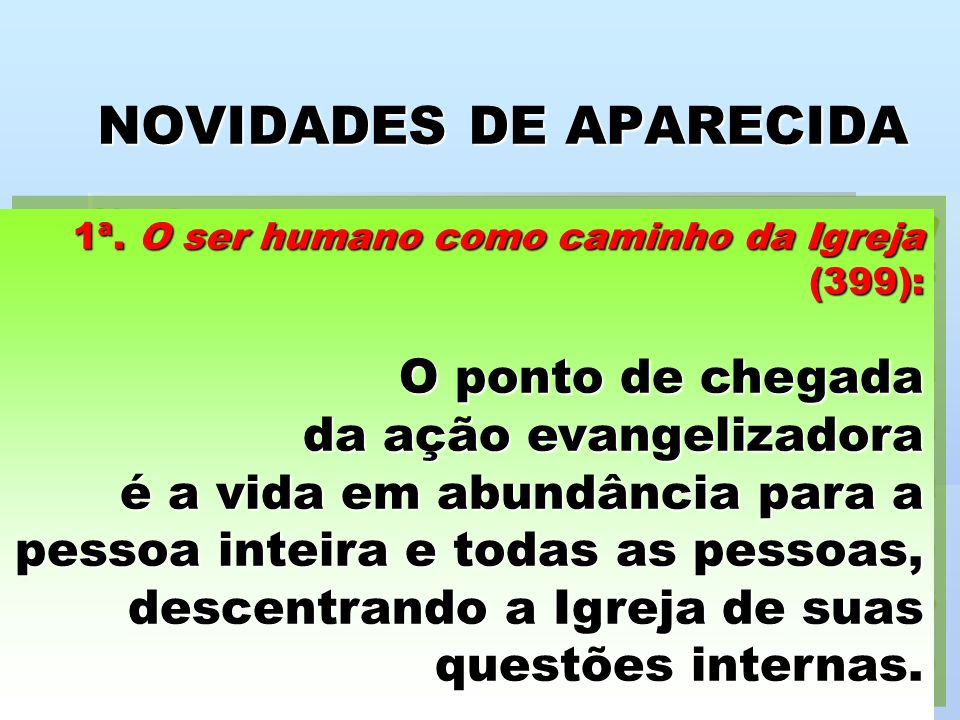 NOVIDADES DE APARECIDA