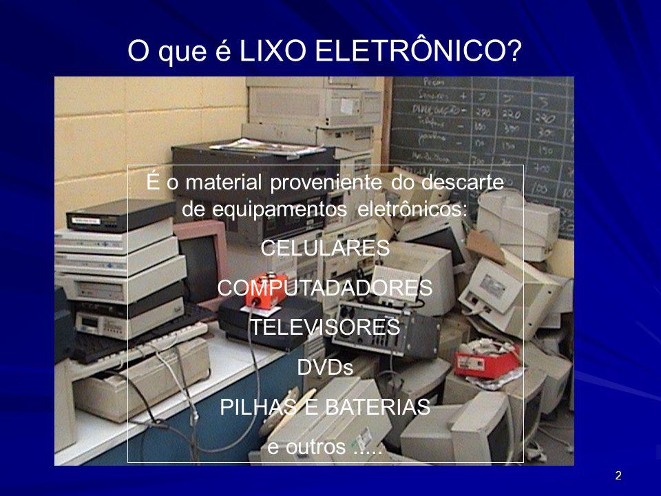 É o material proveniente do descarte de equipamentos eletrônicos: