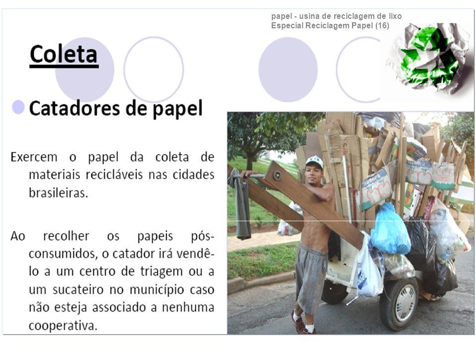 papel - usina de reciclagem de lixo