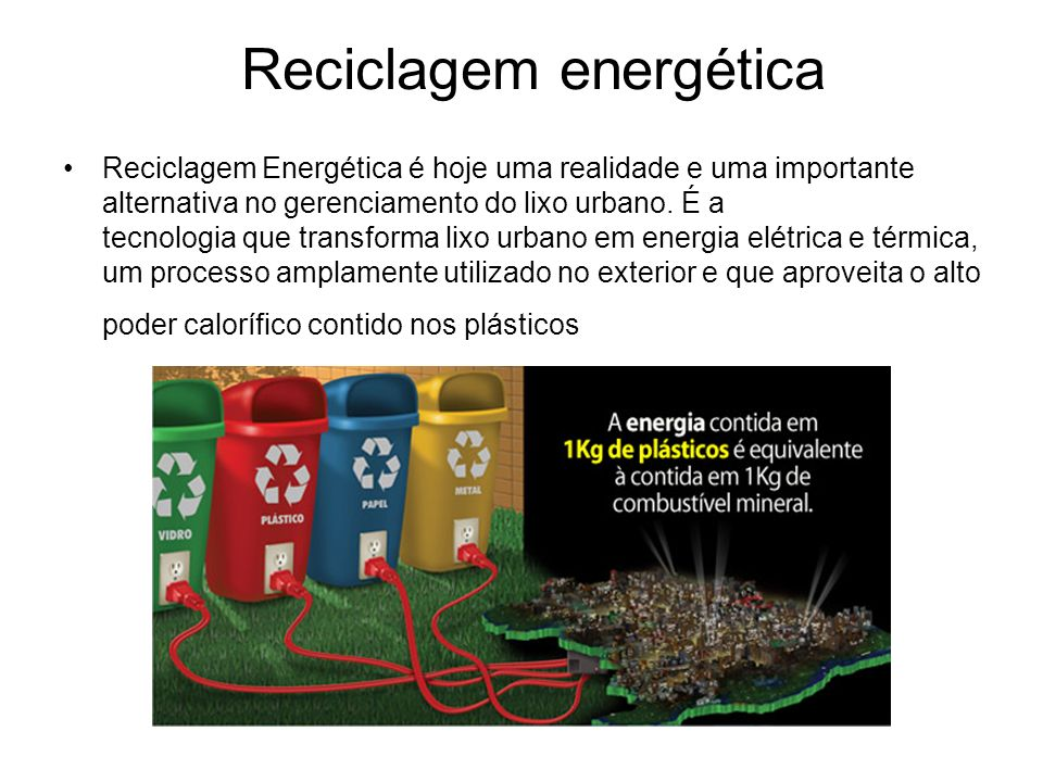 Reciclagem energética