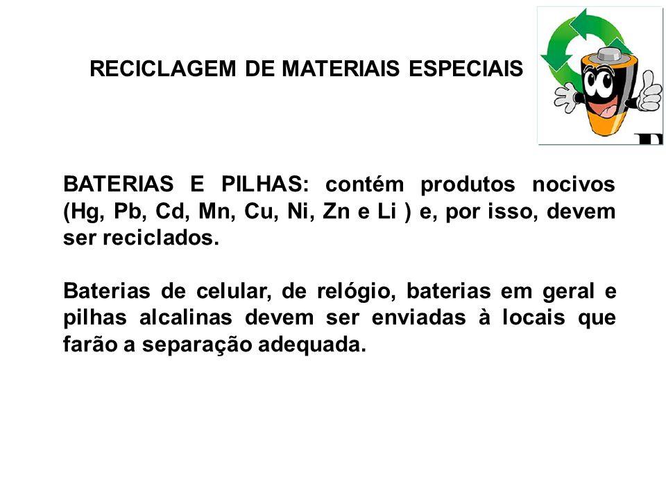 RECICLAGEM DE MATERIAIS ESPECIAIS