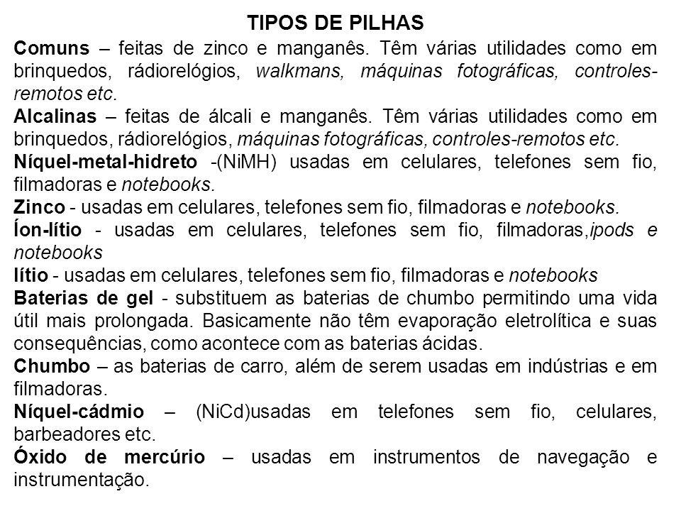 TIPOS DE PILHAS