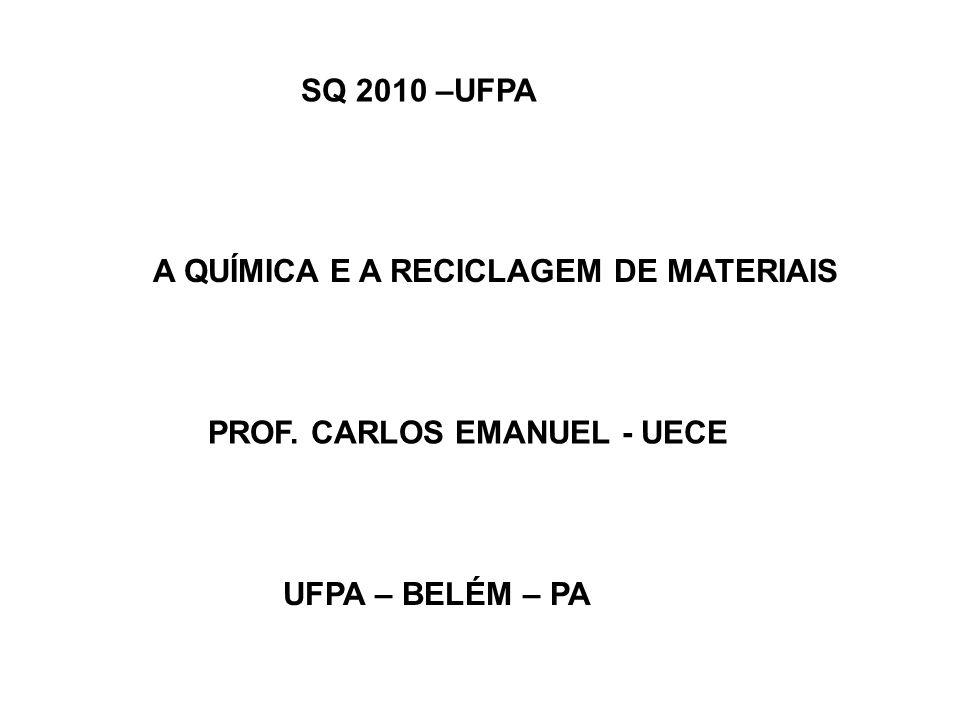 A QUÍMICA E A RECICLAGEM DE MATERIAIS PROF. CARLOS EMANUEL - UECE