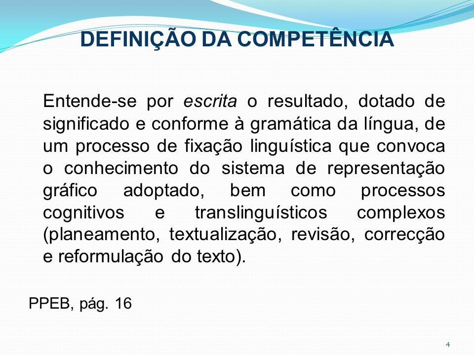 DEFINIÇÃO DA COMPETÊNCIA