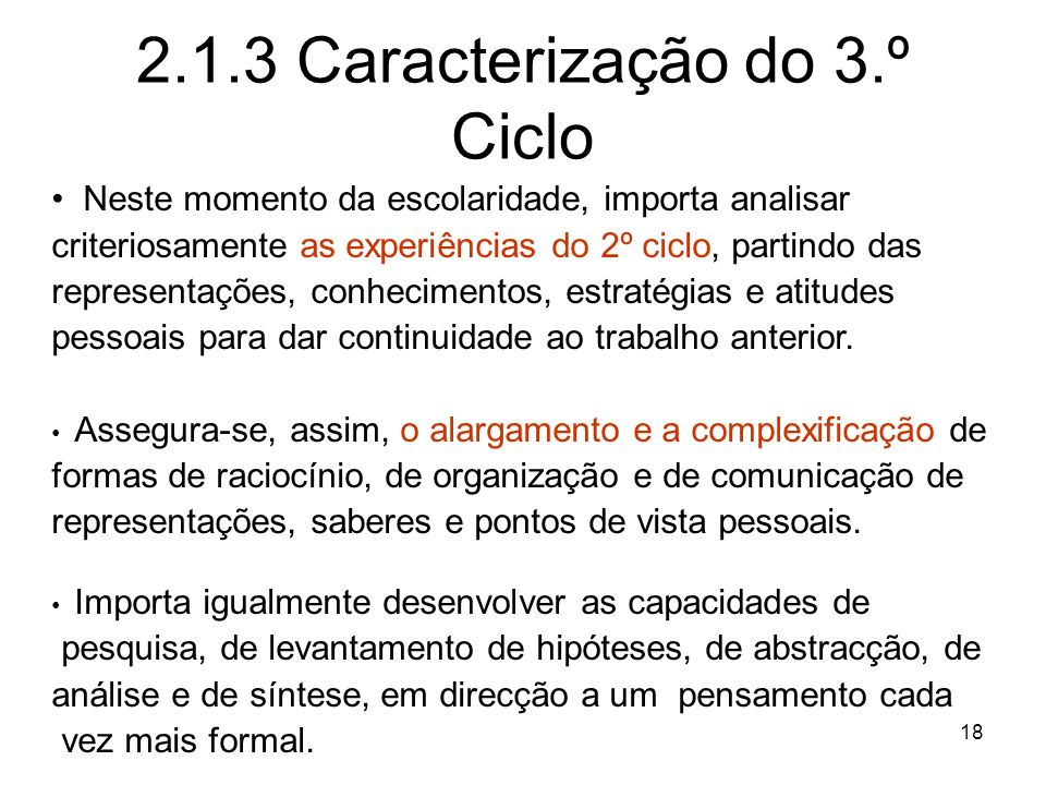 2.1.3 Caracterização do 3.º Ciclo