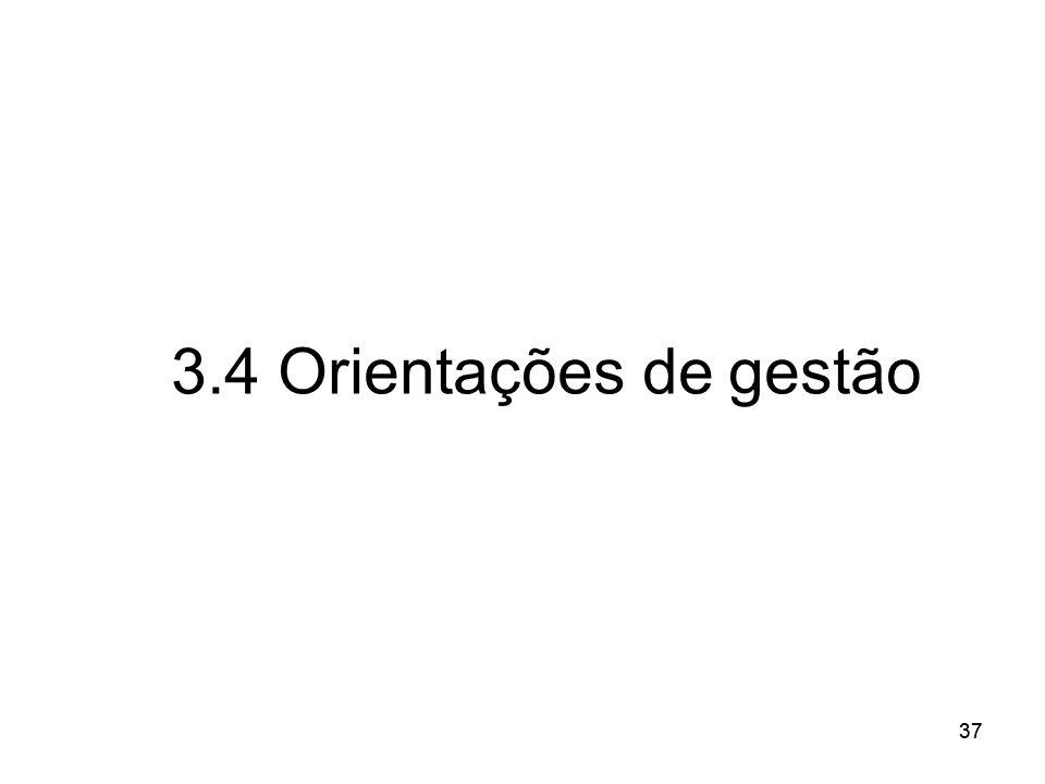 3.4 Orientações de gestão 37