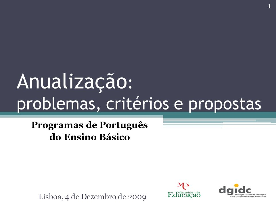 Anualização: problemas, critérios e propostas