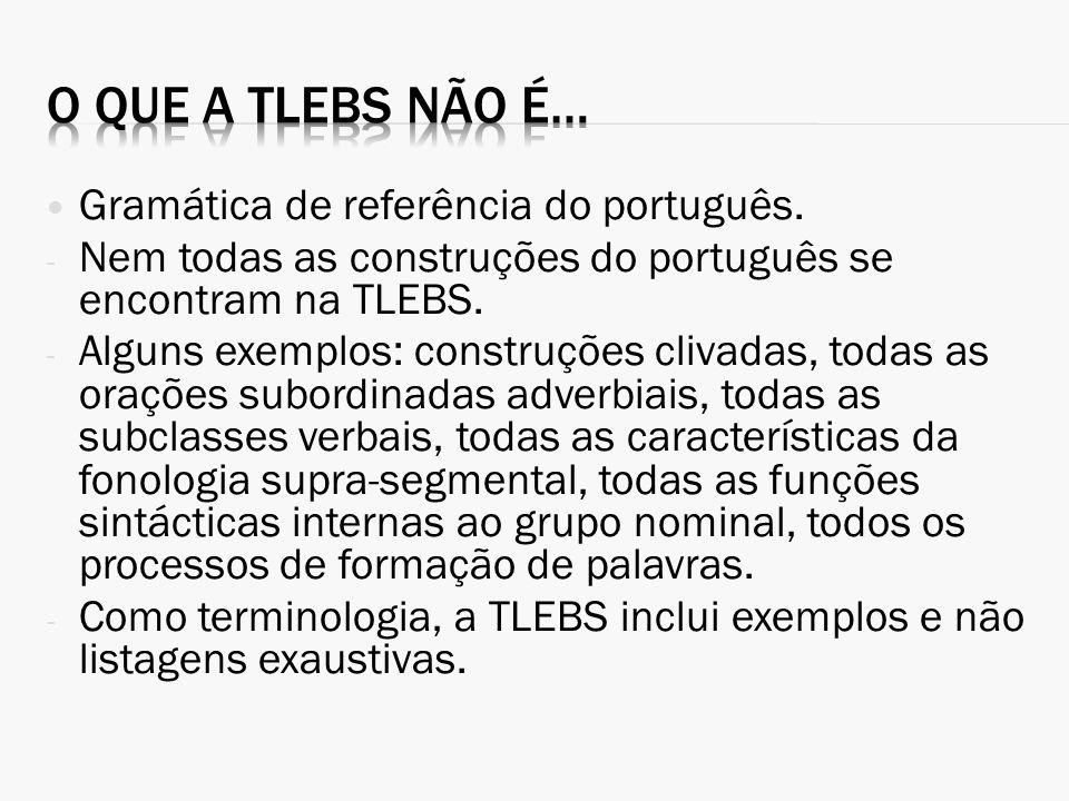 O que a TLEBS não é… Gramática de referência do português.