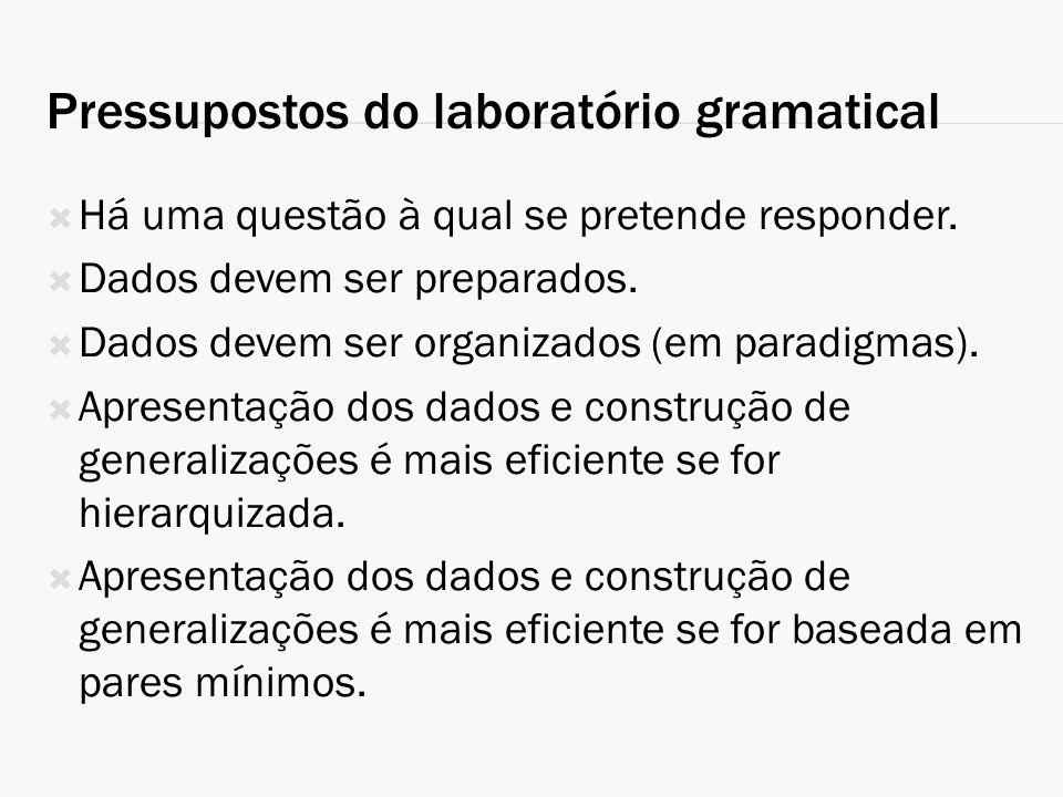 Pressupostos do laboratório gramatical