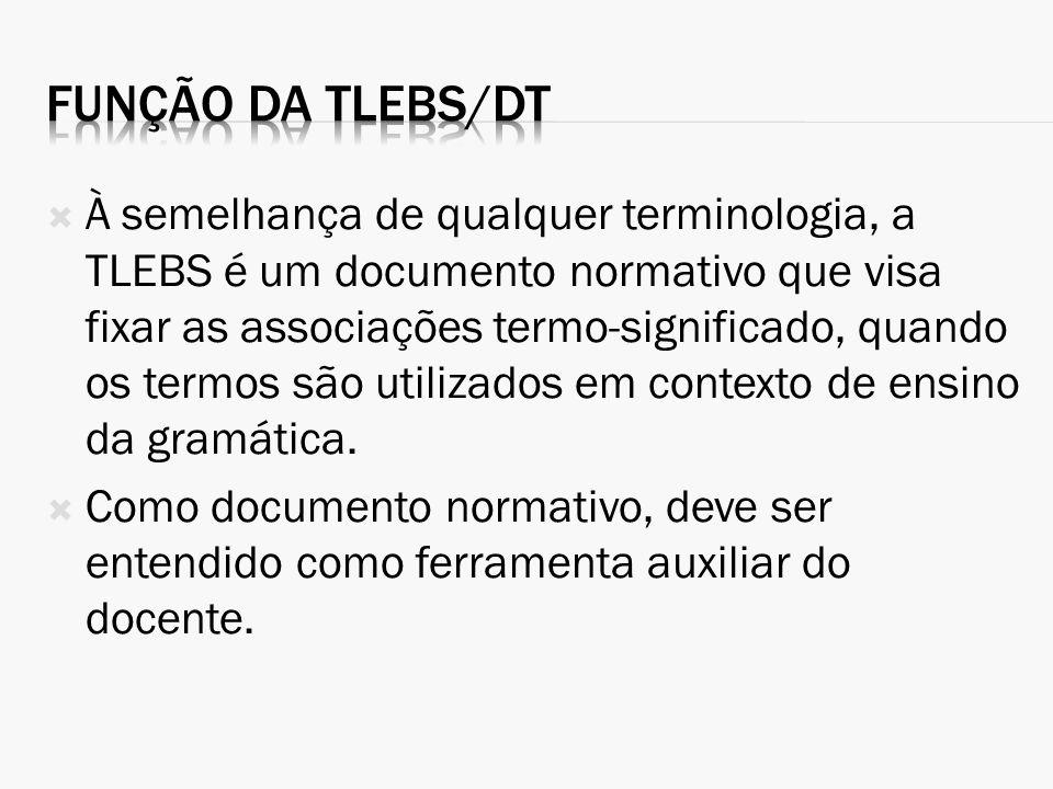 Função da TLEBS/DT