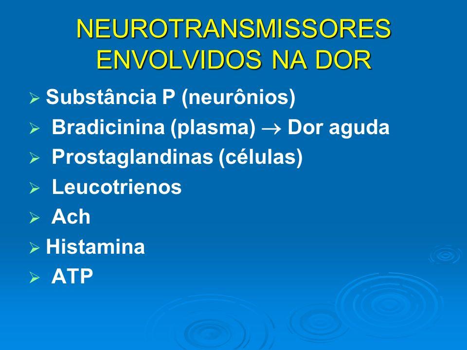 NEUROTRANSMISSORES ENVOLVIDOS NA DOR