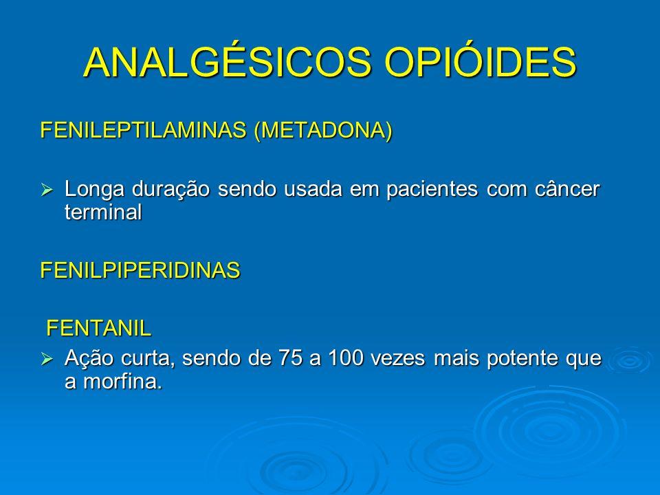 ANALGÉSICOS OPIÓIDES FENILEPTILAMINAS (METADONA)