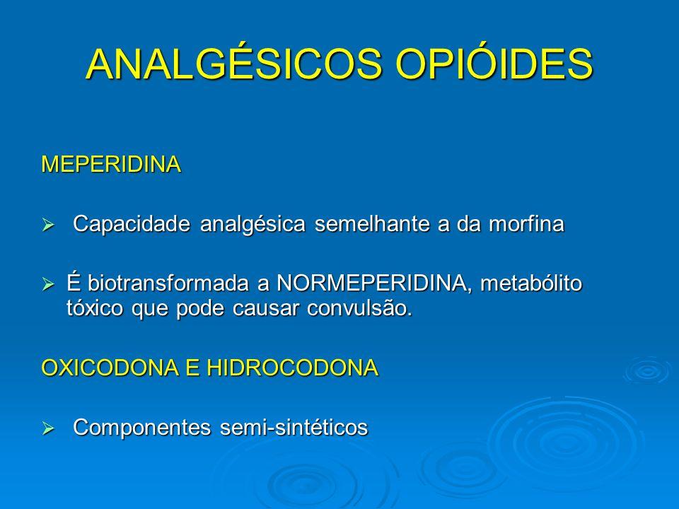 ANALGÉSICOS OPIÓIDES MEPERIDINA