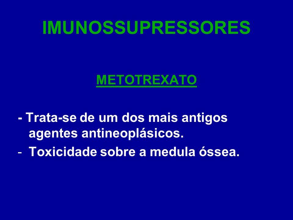 IMUNOSSUPRESSORES METOTREXATO