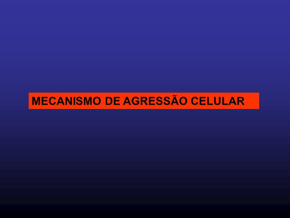 MECANISMO DE AGRESSÃO CELULAR