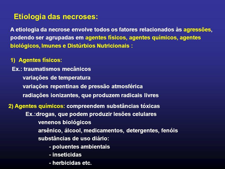 Etiologia das necroses: