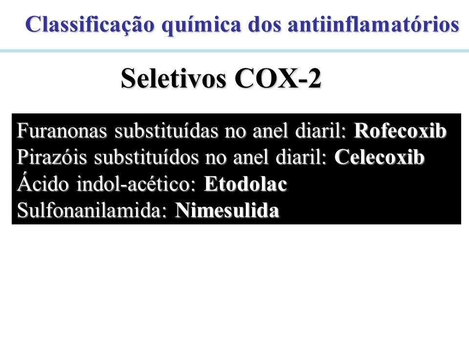 Seletivos COX-2 Classificação química dos antiinflamatórios