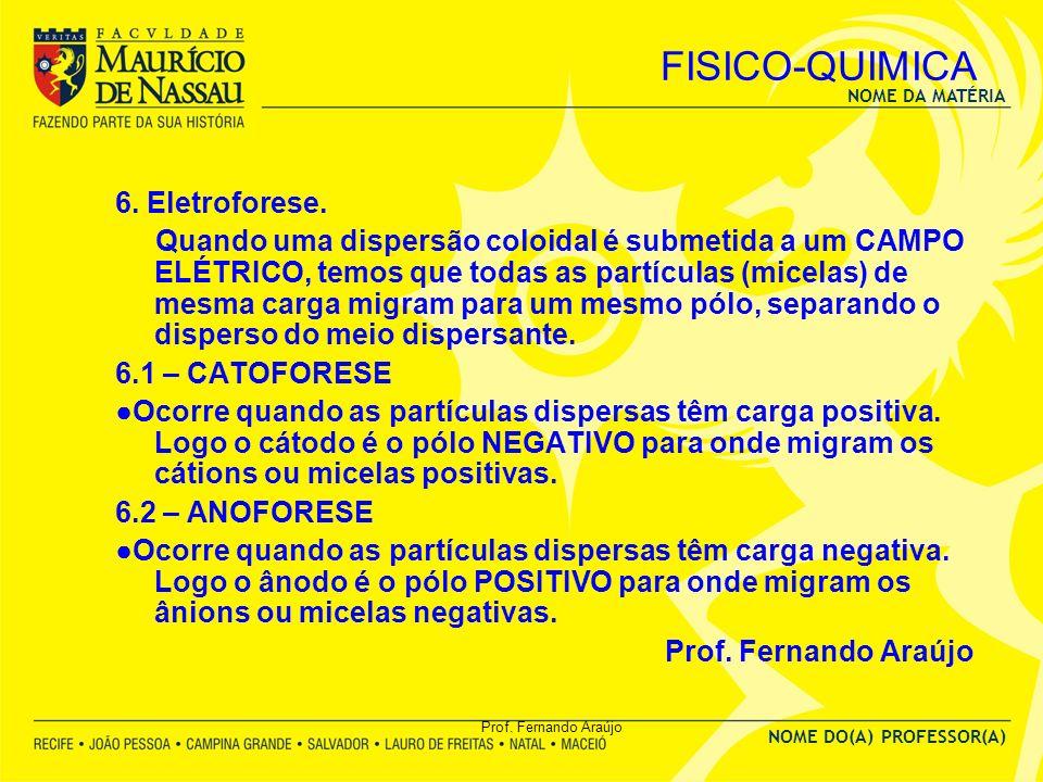 FISICO-QUIMICA 6. Eletroforese.