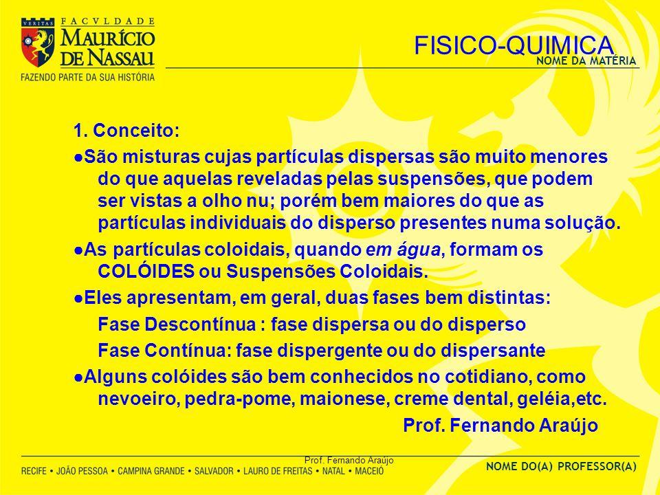 FISICO-QUIMICA 1. Conceito: