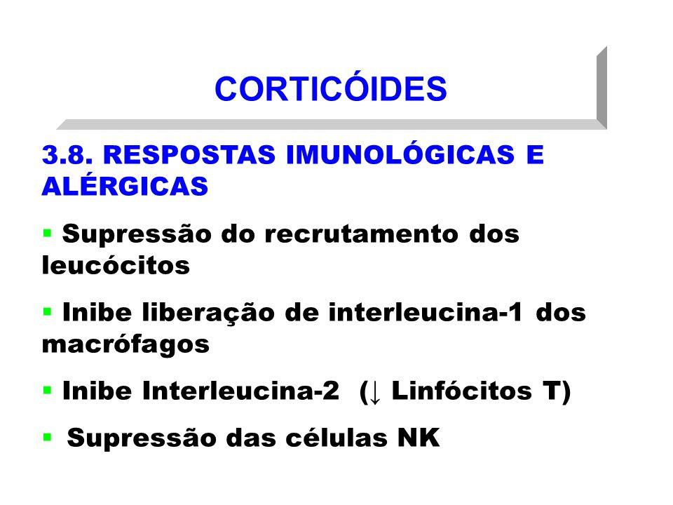 CORTICÓIDES 3.8. RESPOSTAS IMUNOLÓGICAS E ALÉRGICAS