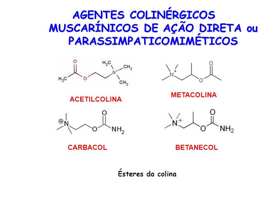 AGENTES COLINÉRGICOS MUSCARÍNICOS DE AÇÃO DIRETA ou PARASSIMPATICOMIMÉTICOS