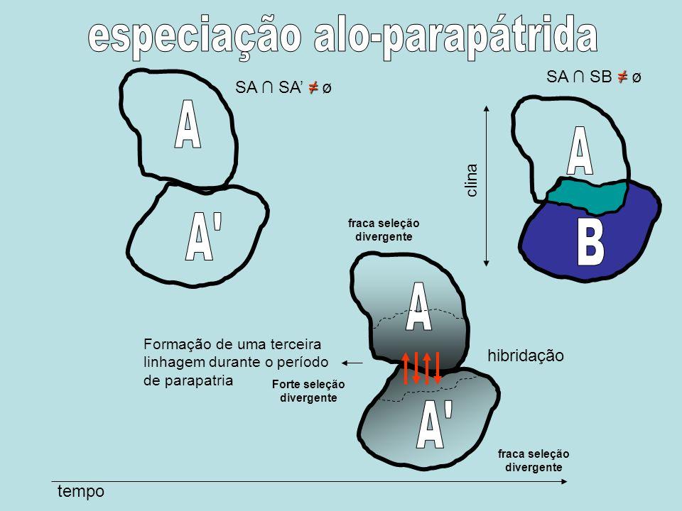 especiação alo-parapátrida