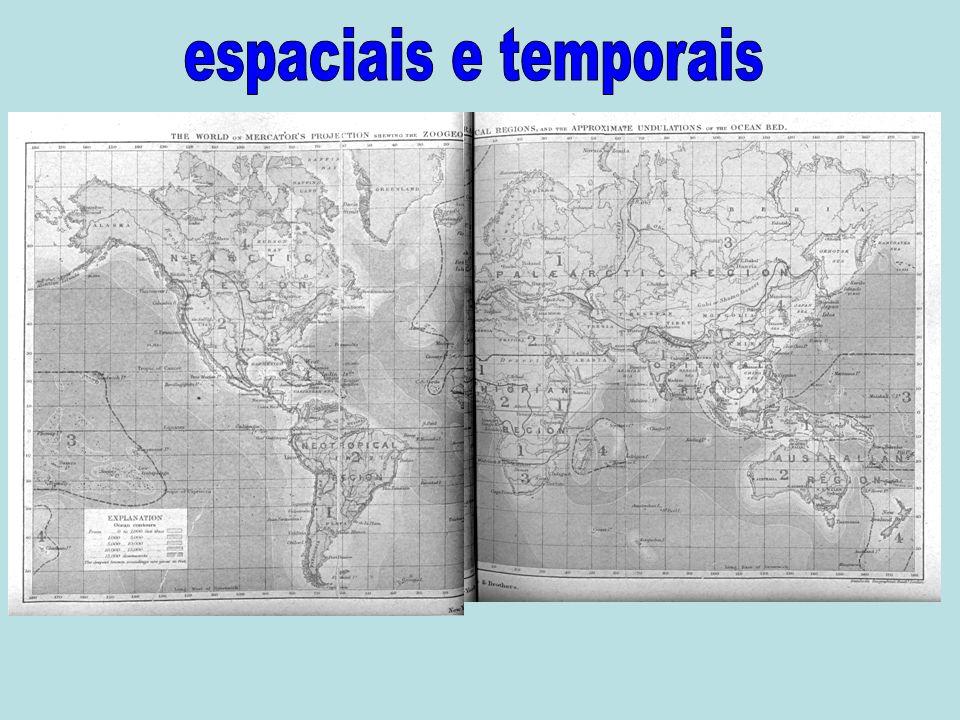 espaciais e temporais