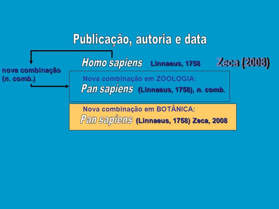 Publicação, autoria e data