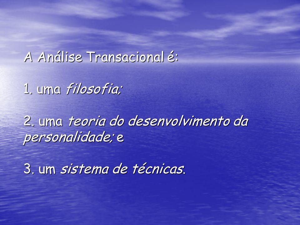 A Análise Transacional é: 1. uma filosofia; 2