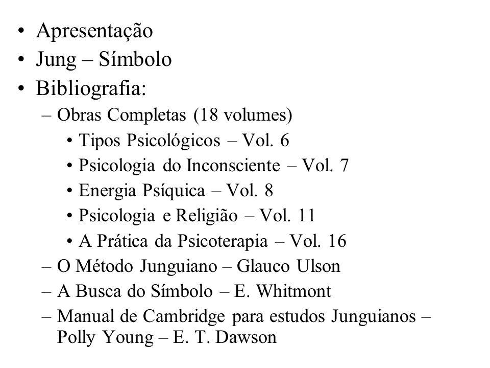 Apresentação Jung – Símbolo Bibliografia: Obras Completas (18 volumes)