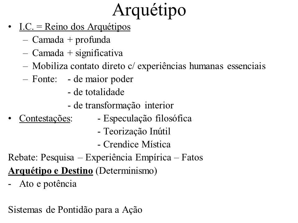 Arquétipo I.C. = Reino dos Arquétipos Camada + profunda