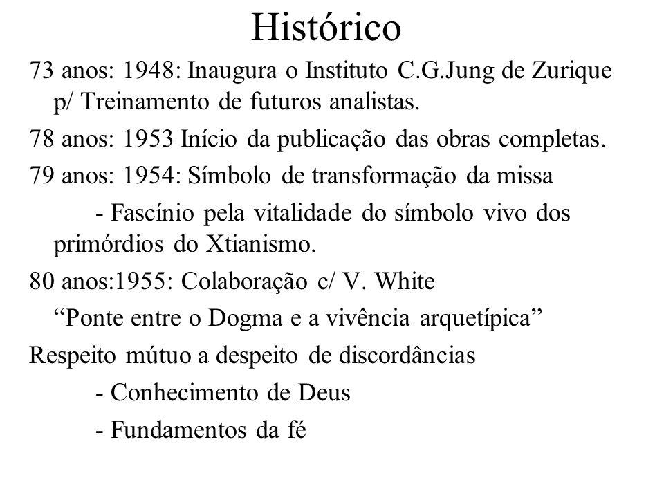 Histórico 73 anos: 1948: Inaugura o Instituto C.G.Jung de Zurique p/ Treinamento de futuros analistas.