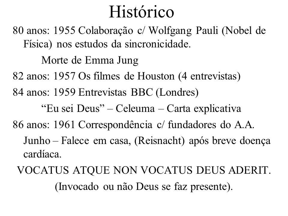 Histórico 80 anos: 1955 Colaboração c/ Wolfgang Pauli (Nobel de Física) nos estudos da sincronicidade.