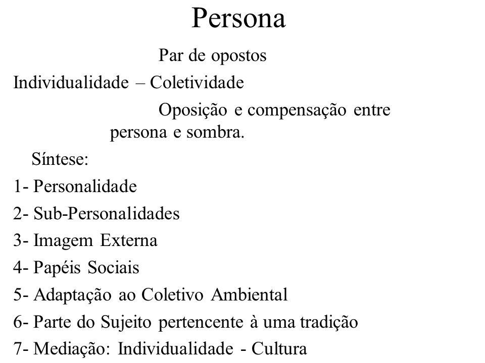 Persona Par de opostos Individualidade – Coletividade