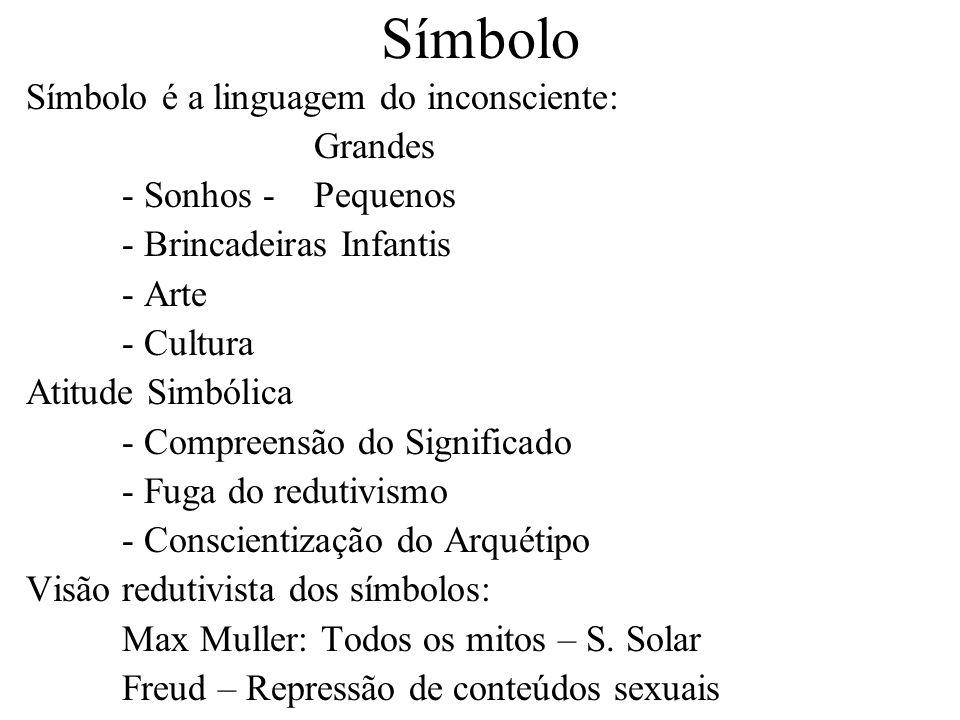 Símbolo Símbolo é a linguagem do inconsciente: Grandes