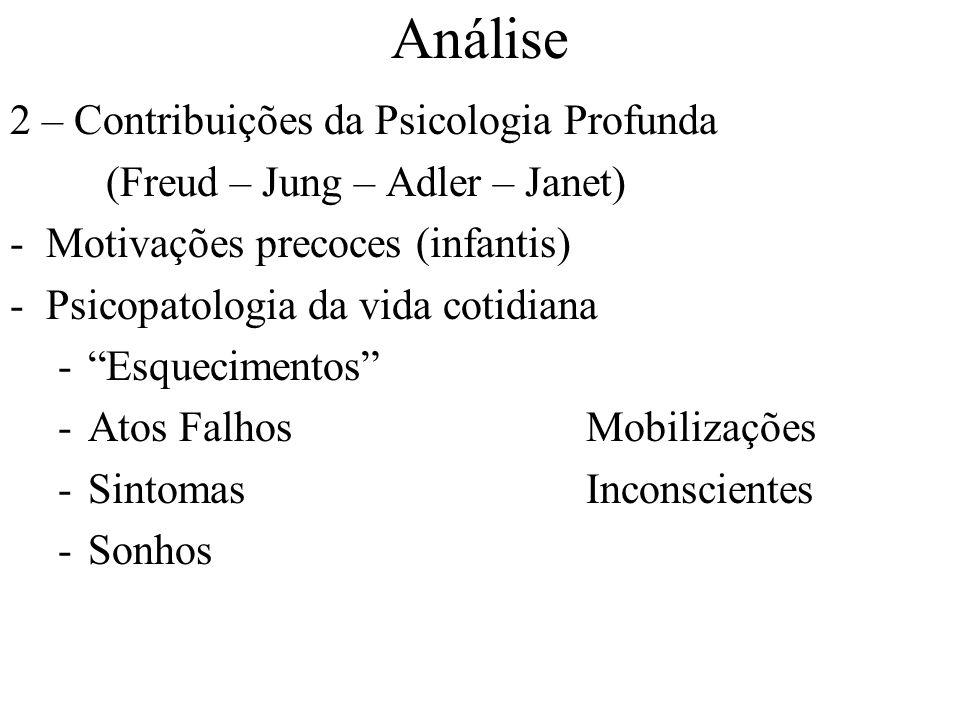 Análise 2 – Contribuições da Psicologia Profunda