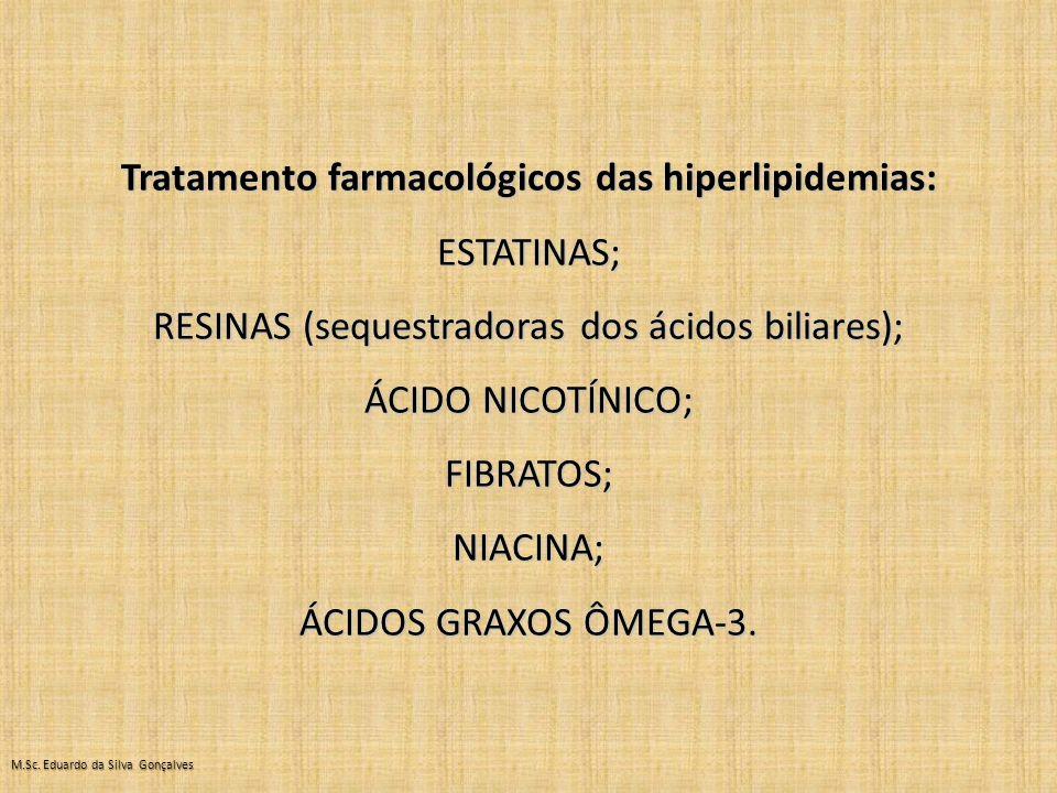 Tratamento farmacológicos das hiperlipidemias: