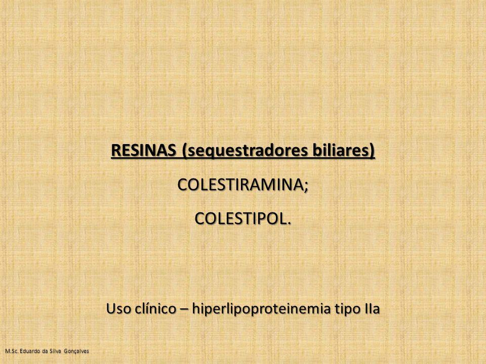 RESINAS (sequestradores biliares)
