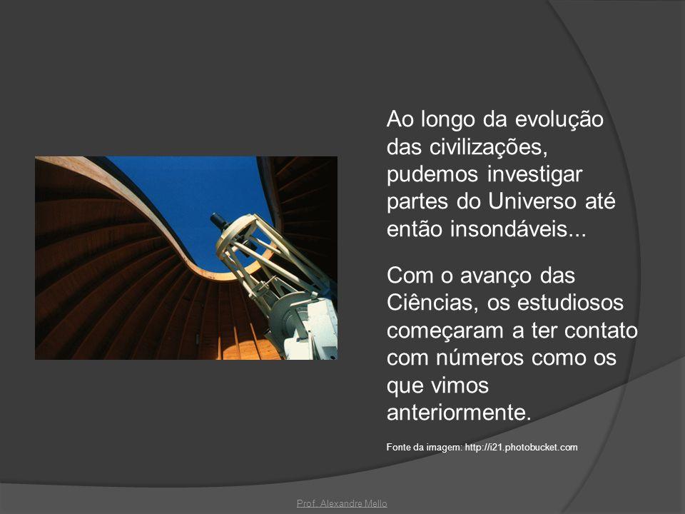 Ao longo da evolução das civilizações, pudemos investigar partes do Universo até então insondáveis...