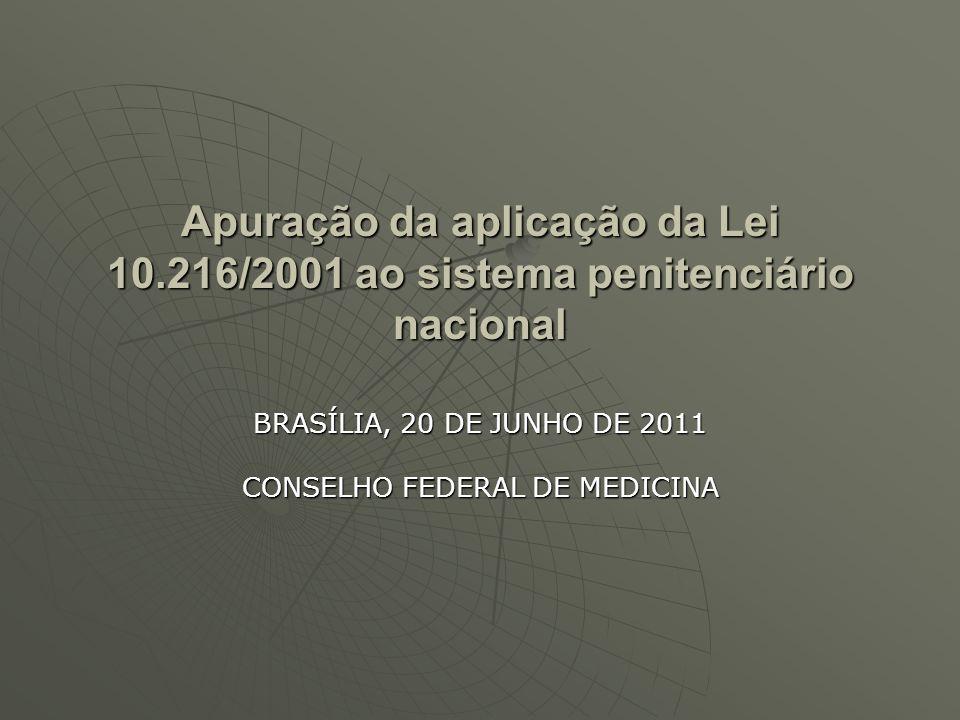 BRASÍLIA, 20 DE JUNHO DE 2011 CONSELHO FEDERAL DE MEDICINA