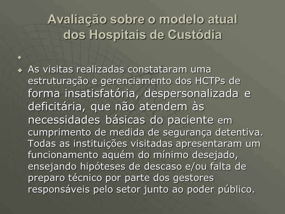 Avaliação sobre o modelo atual dos Hospitais de Custódia