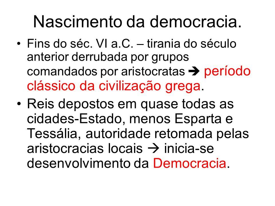 Nascimento da democracia.