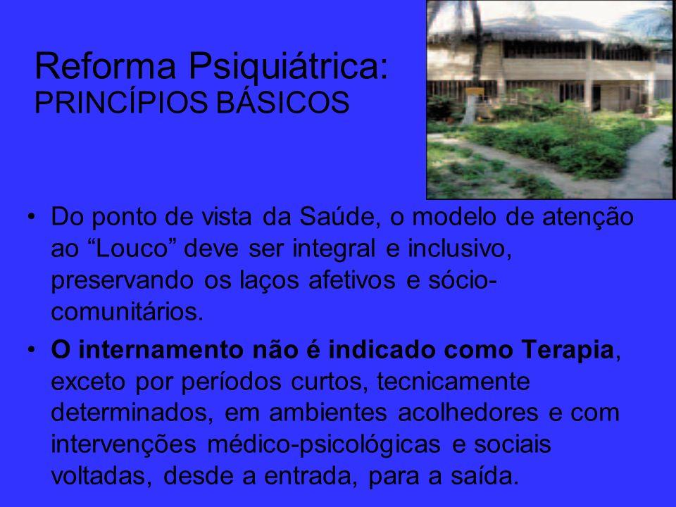 Reforma Psiquiátrica: PRINCÍPIOS BÁSICOS