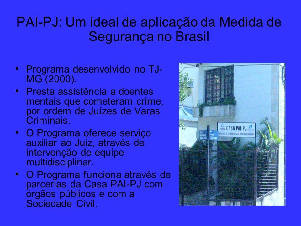 PAI-PJ: Um ideal de aplicação da Medida de Segurança no Brasil