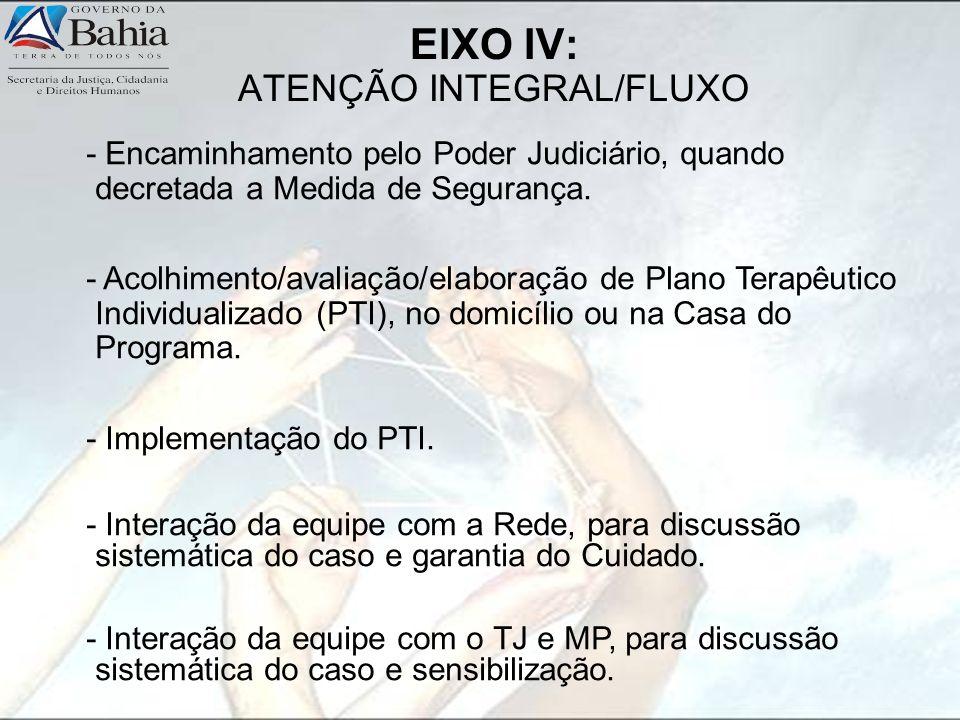 EIXO IV: ATENÇÃO INTEGRAL/FLUXO