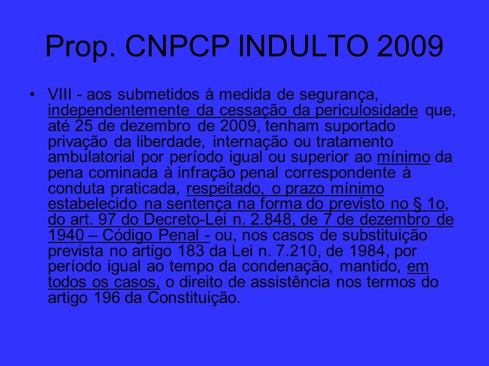 Prop. CNPCP INDULTO 2009