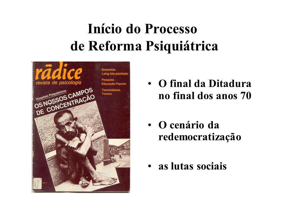 Início do Processo de Reforma Psiquiátrica
