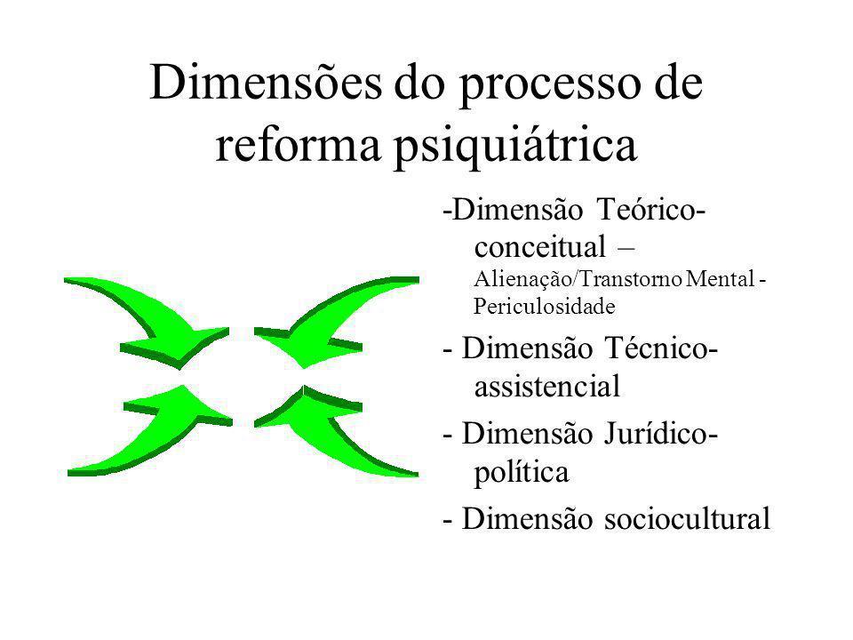 Dimensões do processo de reforma psiquiátrica