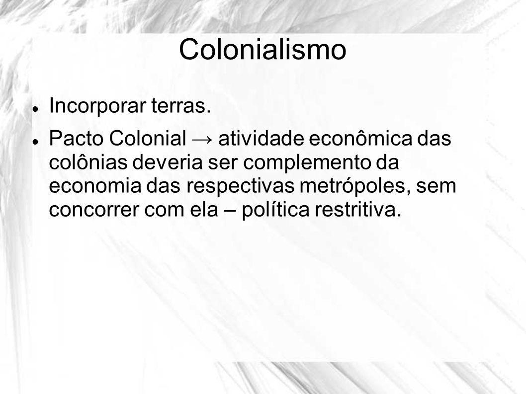 Colonialismo Incorporar terras.