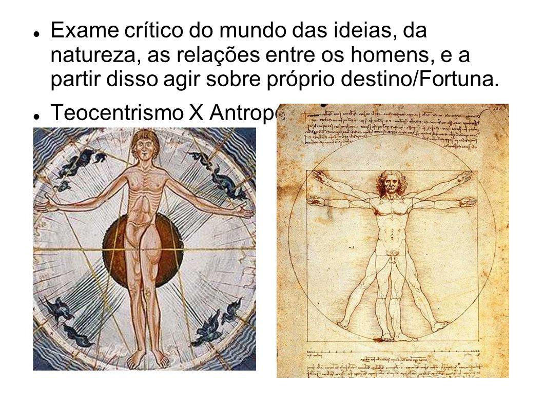 Exame crítico do mundo das ideias, da natureza, as relações entre os homens, e a partir disso agir sobre próprio destino/Fortuna.